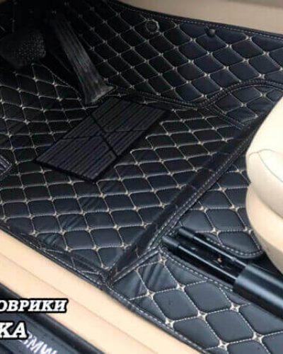 5d автоковрики bmw x3 f25 из черной экокожи с бежевой строчкой